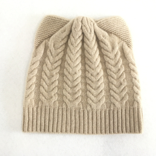 IMfield Natural Series, Cashmere Cable Knitted Ear Flap Beanie