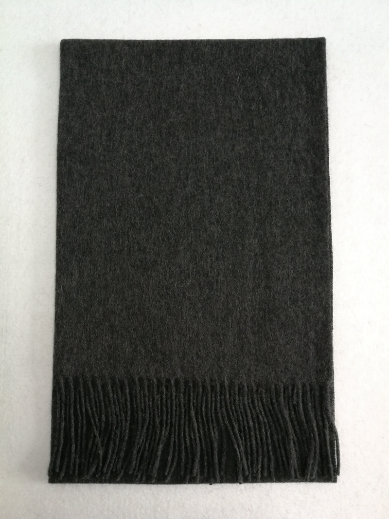 Plain Wool Scarf Charcoal