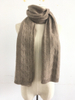 Cable Knitted Cashmere Scarf for Women