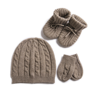 Cashmere Baby Gift Set, Mittens, Beanie, Booties