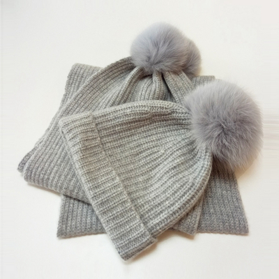 Cashmere Hat and Scarf Set