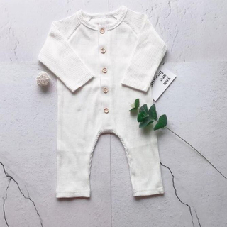 Baby Rib Knitted Cashmere Rompers