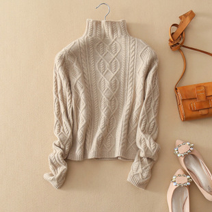 The contrast between cashmere sweater and wool sweater