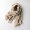 Plain Knitted Cashmere Scarf