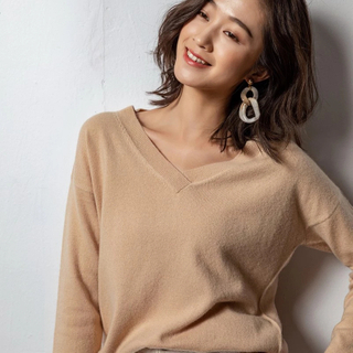 Lady Cashmere V Neck Sweater