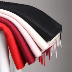 Brushed Solid Color Cashmere Scarf