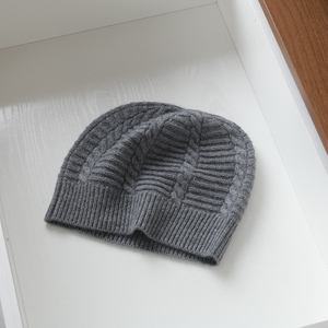 mens cable knit cashmere beanie