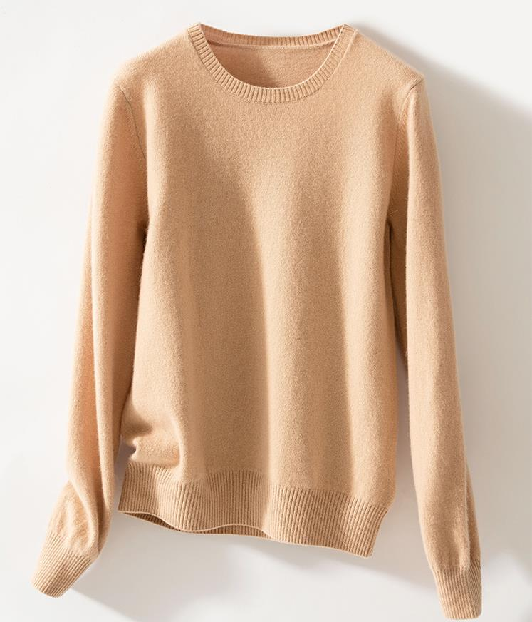 Women Crew Neck Cashmere Sweater