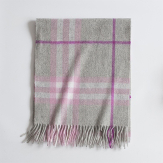 Baby Cashmere Plaid Scarf