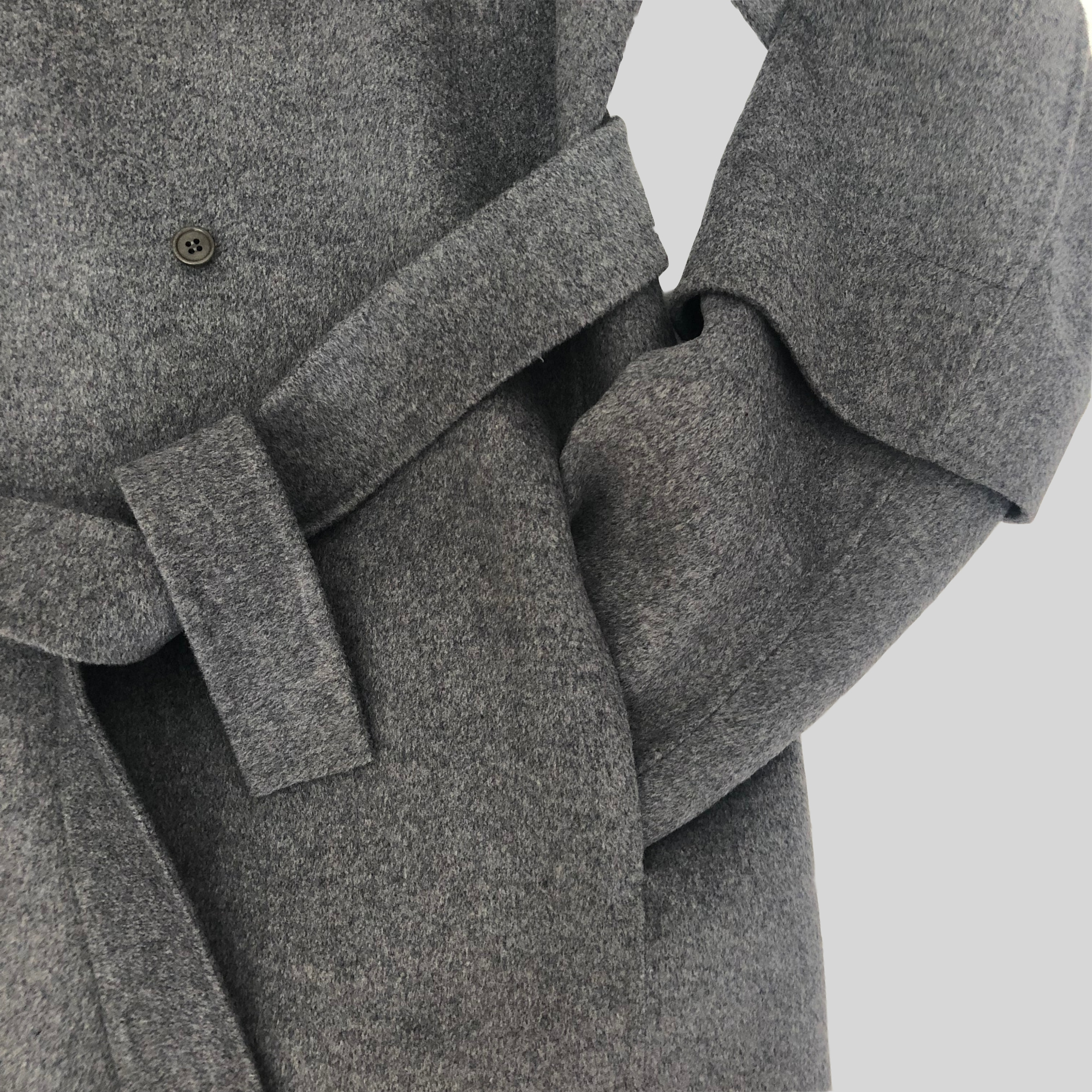 Woolen Coat with Belt And Hat