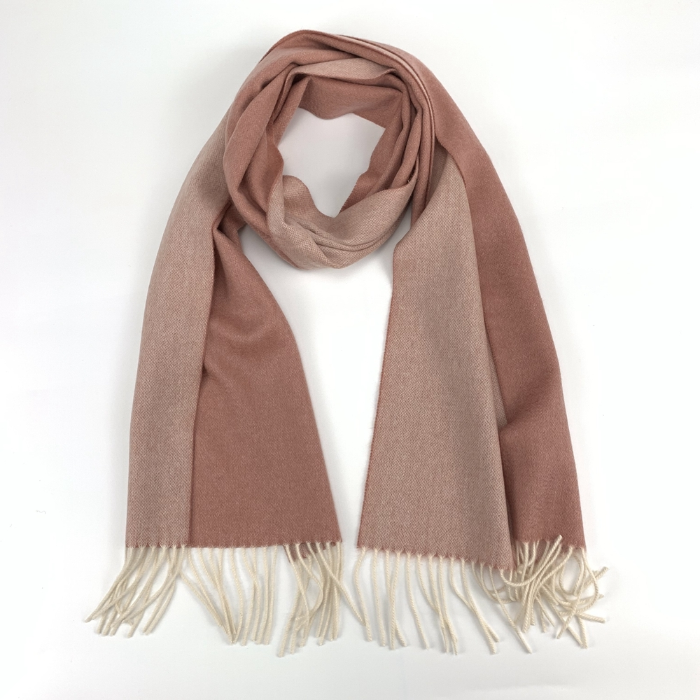 Cashmere Small Double Side Shawls, Pink&White